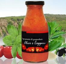 Sugo di Pomodoro con olive e capperi
