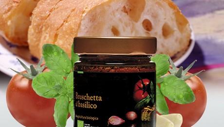 Bio Condimenti per Bruschetta al Basilico