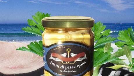 Filetti di Pesce Spada in Olio di Oliva