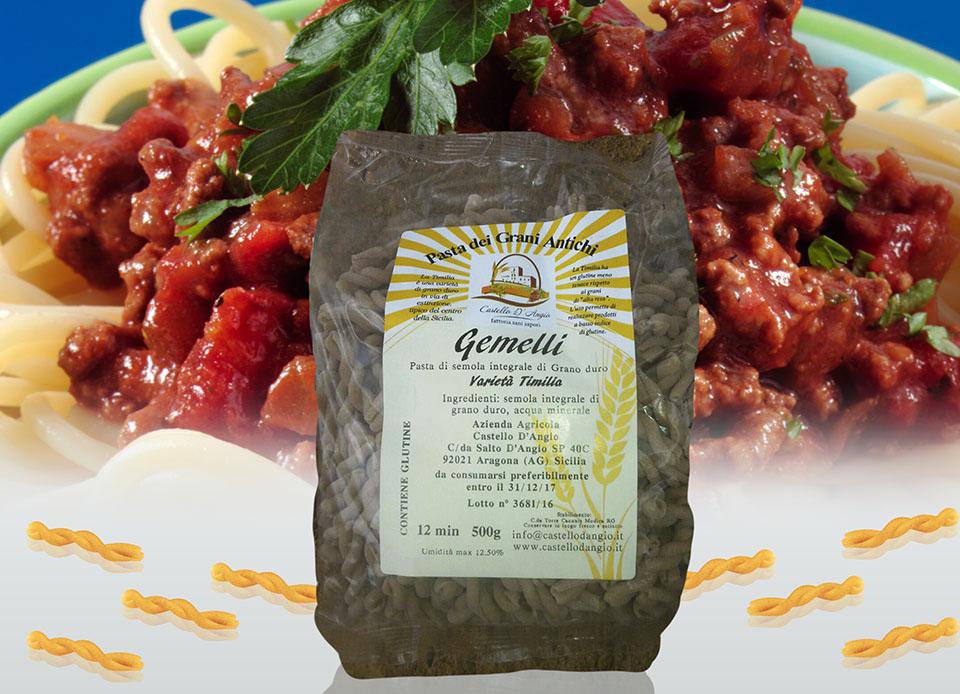 Pasta biologica integrale Gemelli